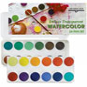 Deluxe Grumbacher Transparent Watercolor 24-Pan Set