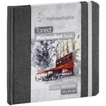 Hahnemuhle Toned Watercolor Book Square Grey