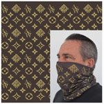 Gaiter Bandana ASW Style Gold on Brown