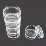 """Stackable Plastic Containers 1.5"""" 5pc Set"""