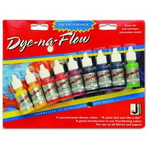 Jacquard Dyn-Na-Flow Paint Exciter Pack Set of 9 Bottles 1/2 oz.