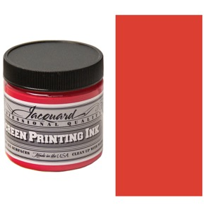 Screen Printing Ink 4oz - Opaque Red
