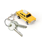 Taxi Cab Led Keychain