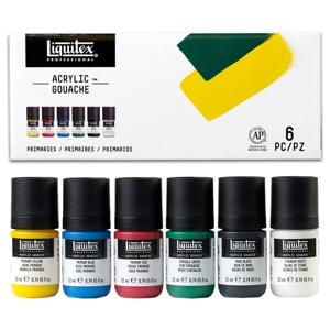 Liquitex Acrylic Gouache 6-Piece Primaries Set - 22ml