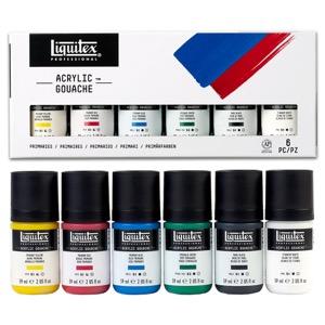 Liquitex Acrylic Gouache 6-Piece Primaries Set - 59ml