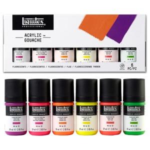 Liquitex Acrylic Gouache 6-Piece Fluorescents Set