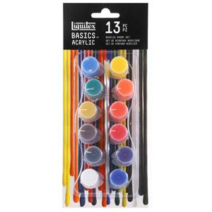 Liquitex Basics 12-Color Acrylic Paint Pots Set