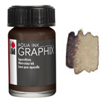 Marabu Graphix Aqua Ink 0.5oz Dark Brown
