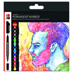 Marabu Permanent Marker Graphix 12pc Set Significant