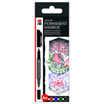 Marabu Permanent Marker Graphix 4pc Set Once Upon a Time