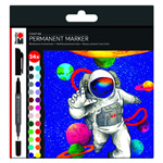Marabu Permanent Marker Graphix 24pc Set Hero of Galaxy