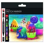 Marabu Permanent Marker Graphix 12pc Set Sugarholic