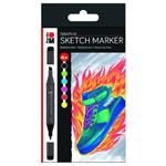Marabu Permanent Marker Graphix 6pc Set Heat