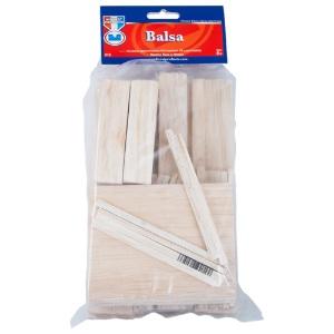 Craft & Hobby Wood Economy Bag - Balsa 24 pieces