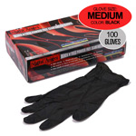 Black Nitrile Gloves 100pk Medium Size