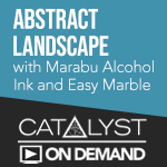 On Demand Class: Abstract Landscape with Marabu Alcohol Inks and Easy