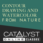 Class: Contour Drawing and Watercolor From Nature 01/16