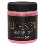 Fluorescent Powder Paint 0.5 lb Red