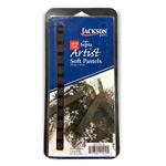 Jackson Artist Soft Pastels 12pc Light Sepia