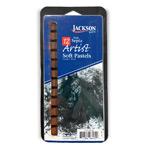 Jackson Artist Soft Pastels 12pc Dark Sepia