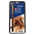 Jackson Artist Soft Pastels 12pc Sanguine & Sepia