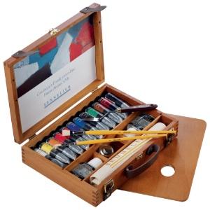 Sennelier Artist Oils Wood Box - Set of 12