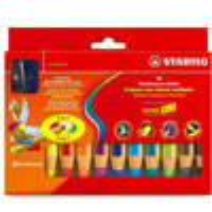 Stabilo Woody 3 in 1 Pencils - 10 Color Set