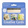 Blank Creative Cards 10pk, 8.9 x 12.4cm - White w/ Black Deckle