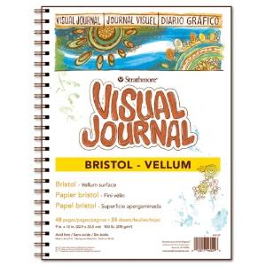 "Visual Journal, Vellum Bristol 9"" x 12"""