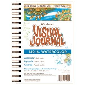 "Visual Journal, Watercolor 140# Cold-Press 5.5"" x 8"""