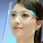 Protective Face Shield with Eyeglasses Frame