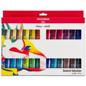 Amsterdam Acrylics 20ml Tubes 24 Colors Set