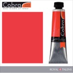 Cobra Water Mixable Oil Color 40ml Pyrrole Red
