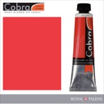 Cobra Water Mixable Oil Color 40ml Transparent Red Medium