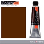 Cobra Water Mixable Oil Color 40ml Burnt Umber