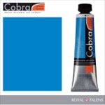 Cobra Water Mixable Oil Color 40ml Cerulean Blue Phthalo