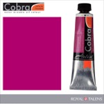 Cobra Water Mixable Oil Color 40ml Permanent Red Violet