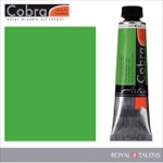 Cobra Water Mixable Oil Color 40ml Permanent Green Light