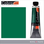 Cobra Water Mixable Oil Color 40ml Permanent Green Deep