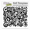 The Crafter's Workshop 6x6 Template - Cosmic Swirl