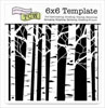 The Crafter's Workshop 6x6 Template - Aspen Trees