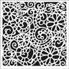 Craft Stencil 6x6 Swirly Garden