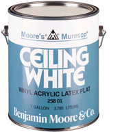 Departments muresco ceiling wh gal for Benjamin moore eco spec paint reviews