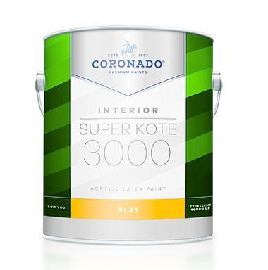 SUPER KOTE 3000 INT FLAT  WHITE