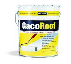 GACO SILICONE ROOF COAT5 GAL