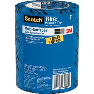 """3M 2"""" BLUE TAPE 2090 MULTI  3PK"""