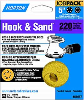 """5"""" 5&8 HOLE H-S DISC P220 25PK"""