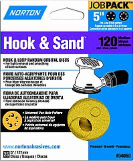 """5"""" 5&8 HOLE H-S DISC P120 25PK"""