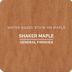 WS SHAKER MAPLE QT   D