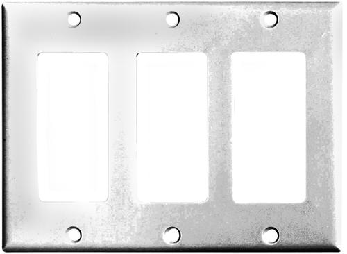 Arrow Hart 2163 Series 2163W-BOX Standard-Size Wallplate, 3-Gang, Thermoset,